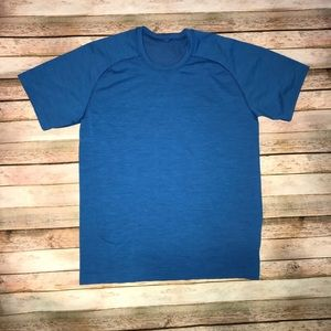 lululemon Blue Workout Tshirt Size L